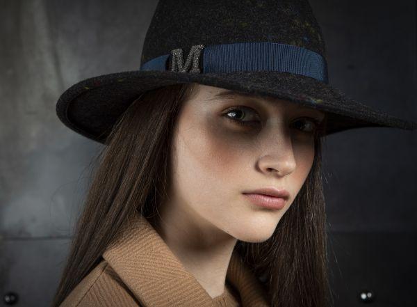 yellow fedora winter marzi hat model