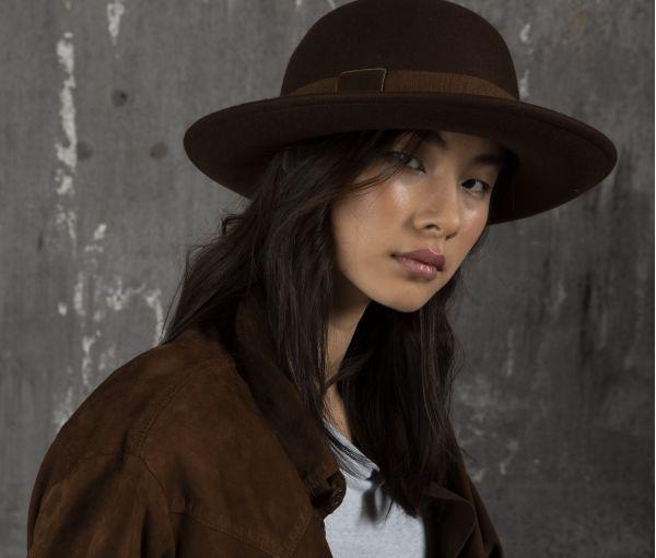 bowler  hat wool velvet marzi winter model