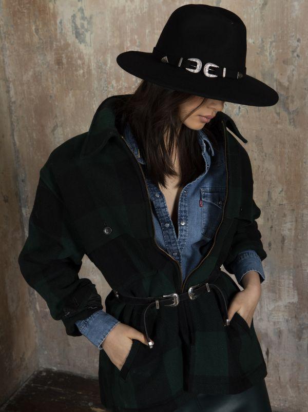 buckle wool fedora marzi winter model